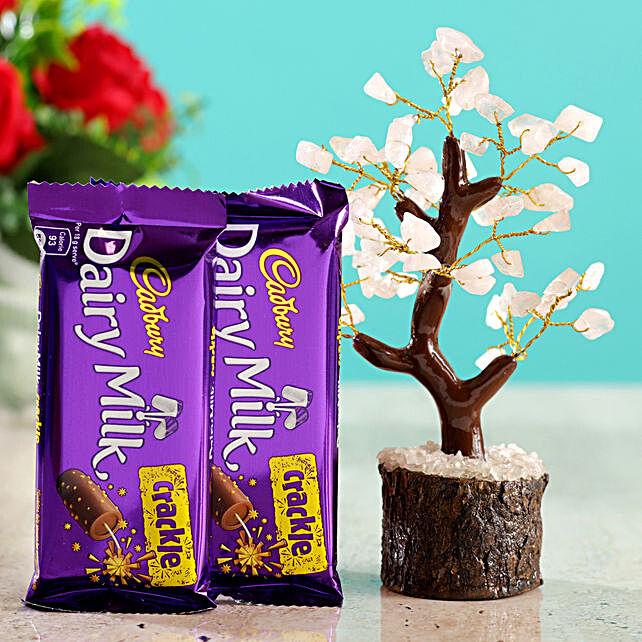 Rose Quartz Wish Tree & Cadbury Crackle:Buy Christmas Tree