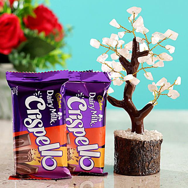 Rose Quartz Wish Tree & Cadbury Crispello