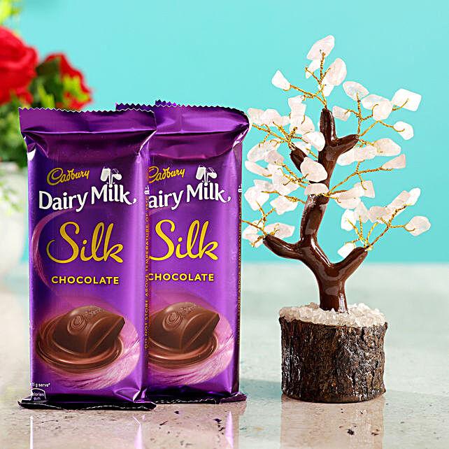 Rose Quartz Wish Tree & Cadbury Silk