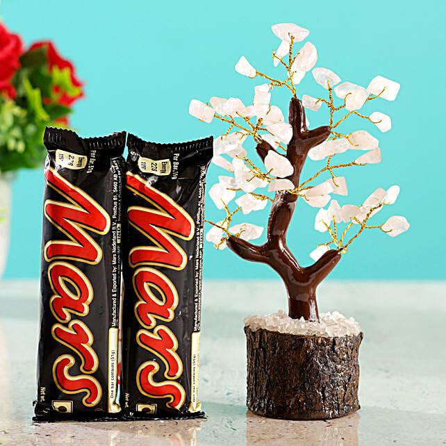 Rose Quartz Wish Tree & Mars Chocolate