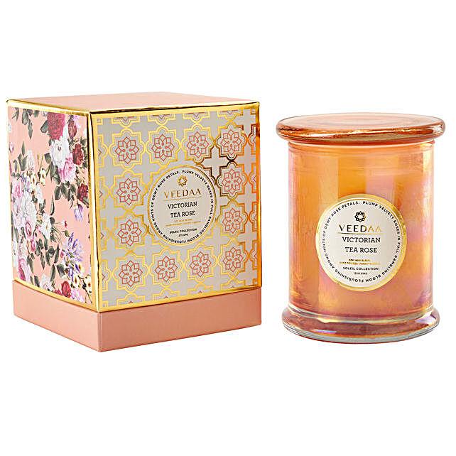 Veedaa Victorian Tea Rose Scented Candle Jar