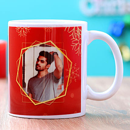 Frosty Christmas Personalised Mug Hand Delivery:Buy Secret Santa Gifts