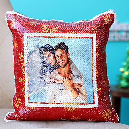 Holidays Special Personalised Sequin Cushion