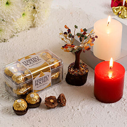 Colourful Wish Tree With Ferrero Rocher Candles