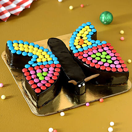 butterfly cake for xmas online:Send Gifts for Dhanteras