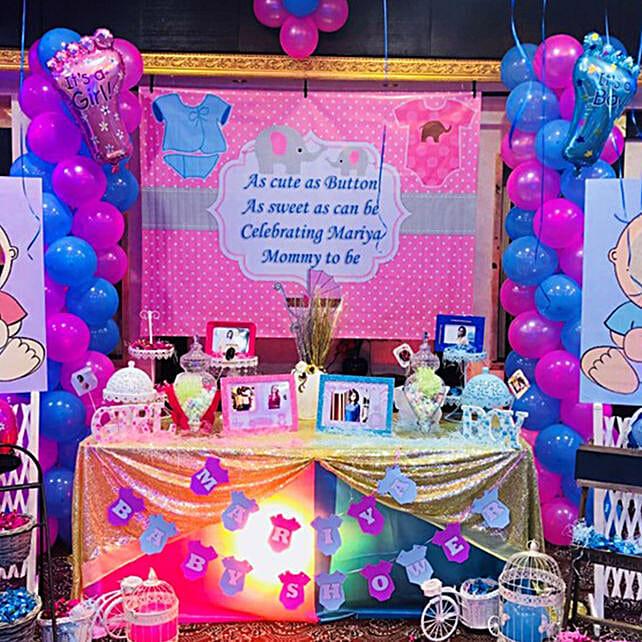 Elegant Baby Shower Balloon Decor