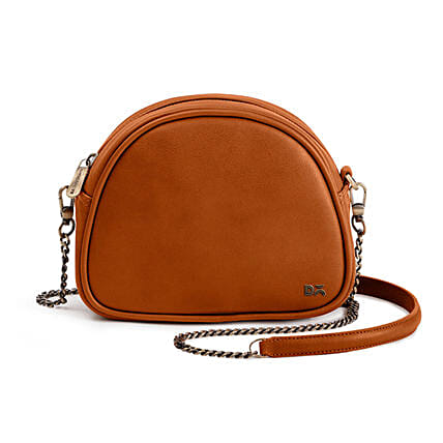 Online Tan Vegan Leather- Arch Crossbody Bag