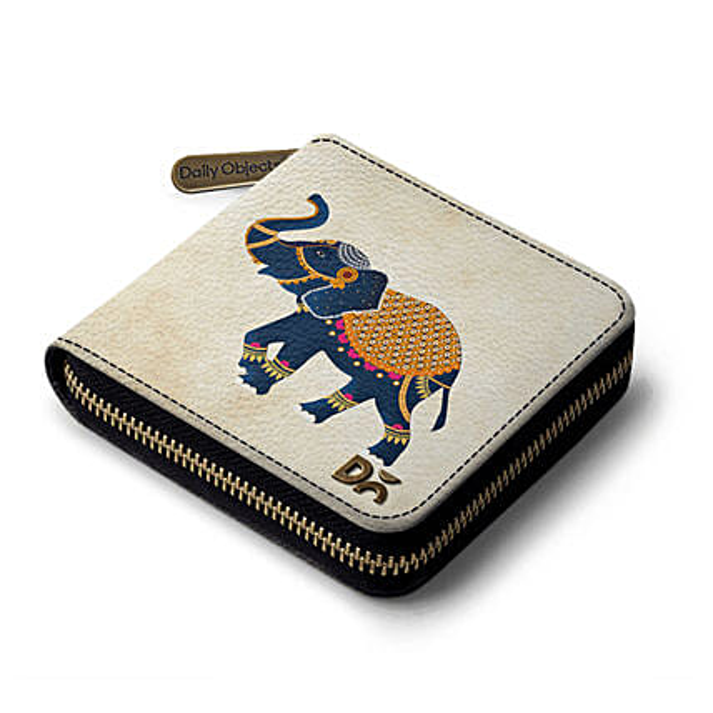 Online White Elephant Zip Wallet