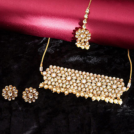 necklace set for  wife online:Send Jewellery Gifts