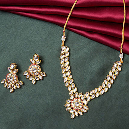 Necklace set online:Send Jewellery Gifts