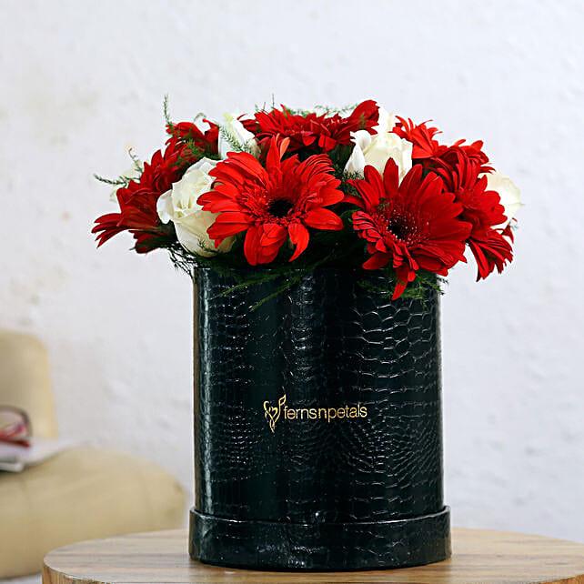 Online Gerberas And Roses Arrangement