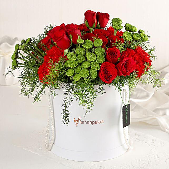 Online Red Affair Flower Box