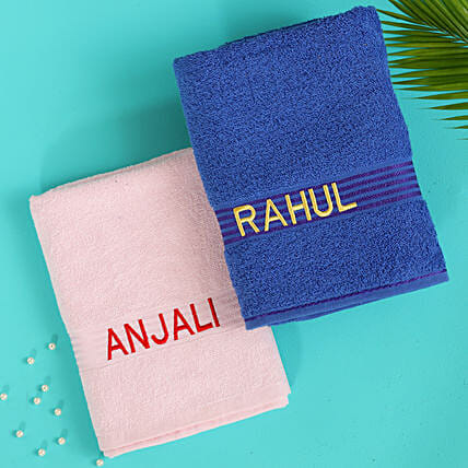 customised cotton towels online:Personalised Towels