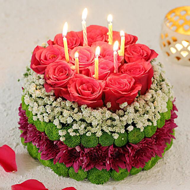 Pink & Purple Fantasy Floral Cake