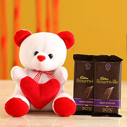 Teddy Bear & Valentines Chocolates for Her