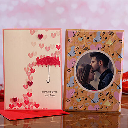 V Day Personalised Plaque Greeting Card