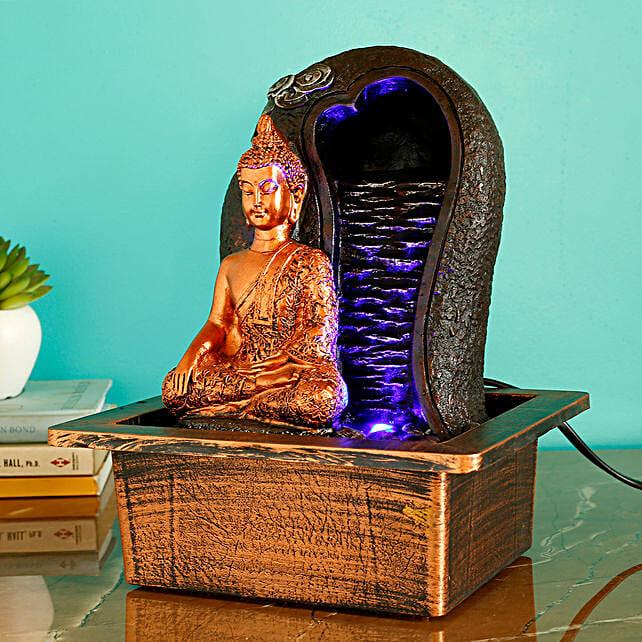 Buddha Round Waterfall Fountain Copper