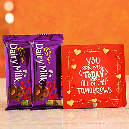 Online Order Love Quote Table Top:Gifts for Chocolate Day