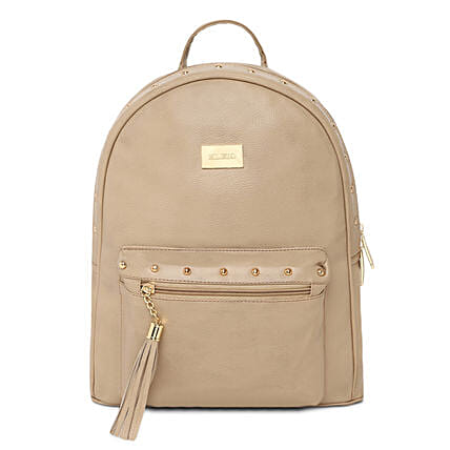 elegant beige pu backpack online