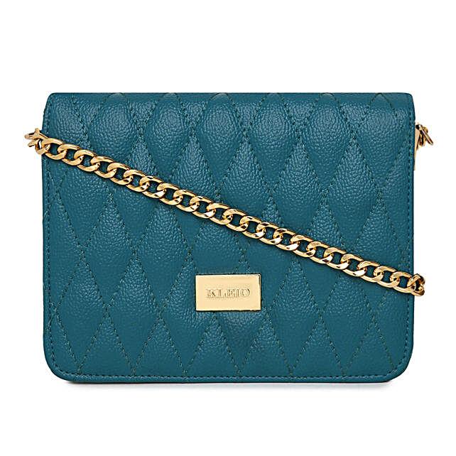Online KLEIO Quilted Vibrant Cross Body Sling Hand Bag For Girls Women Ladies (Olive Green) (HO8006KL-OG)