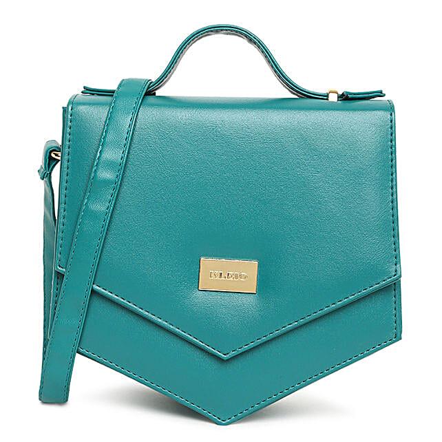 Online KLEIO PU Vibrant Unique Shape Cross Body Sling Hand Bag For Girls Women Ladies (Olive Green) (HO8012KL-OG)