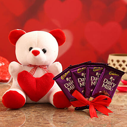 Valentines Day Special Gift Combo for Wife:Teddy Day Soft Toys