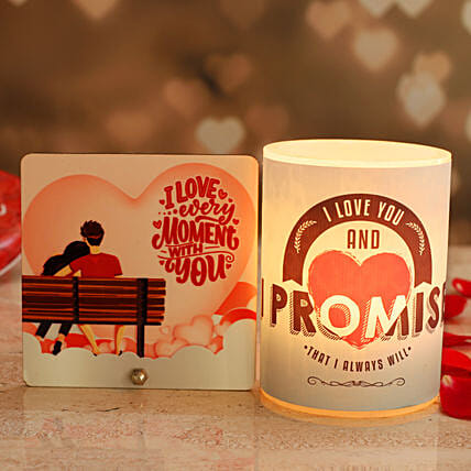 Promise Day Hollow Candle Couple Love Table Top
