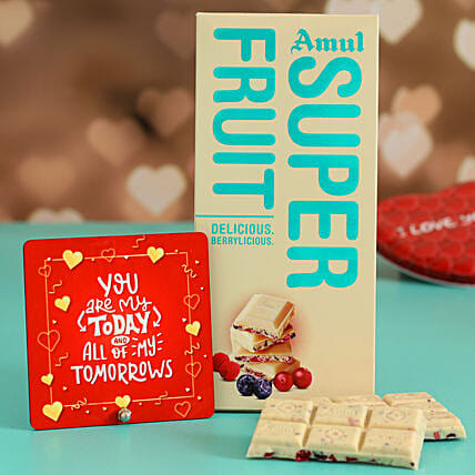 Online  Fruit Chocolate With Greeting Card