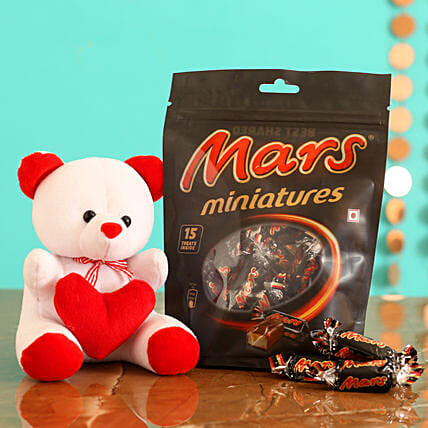 Online Chocolate With Printed Table Top:Propose Day Soft Toys