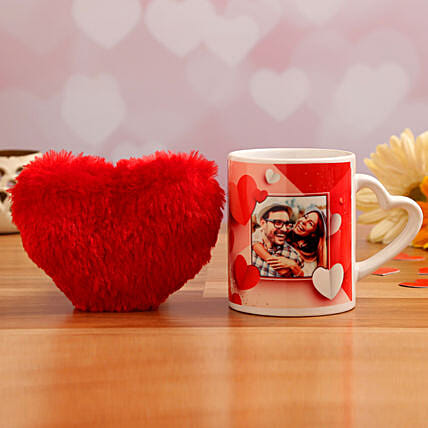 heart handle mug for valentines day