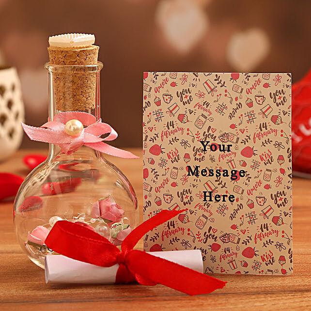 love message bottle for valentines day online
