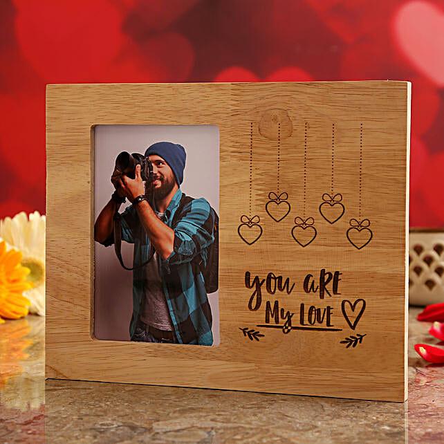 wooden photo frame for vday