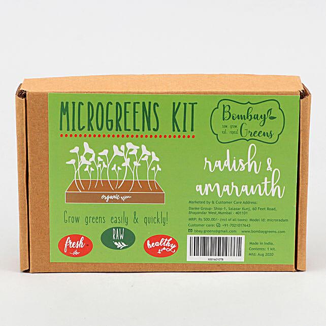 Bombay Greens Radish And Amaranth Microgreens Kit:Herbs and Medicinal Plants