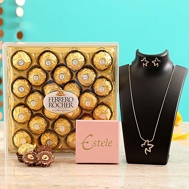 Buy Pretty Necklace Set:Send Valentines Day Jewellery