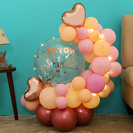 Rose Gold Love Balloon Bouquet
