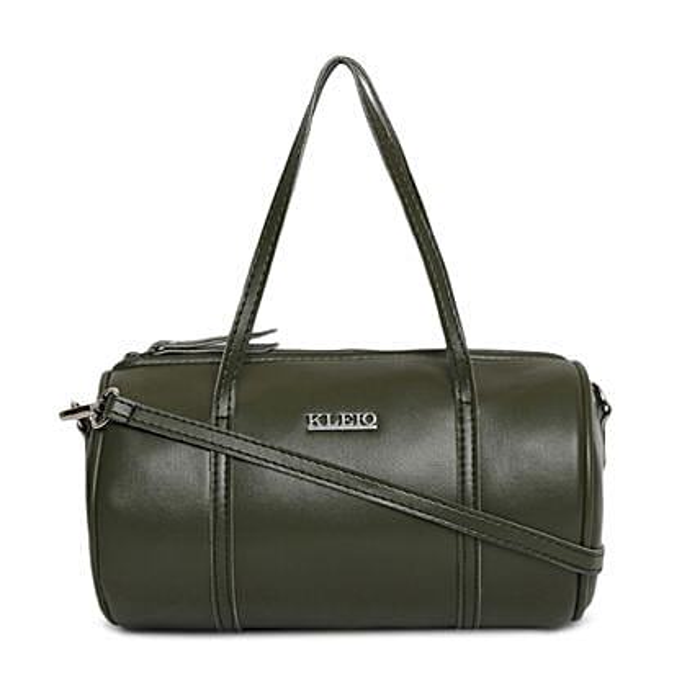 Online KLEIO Small Round Cross-Body Side Sling Hand Bag for Girls Women (HO8015KL-DG_Dark Green)