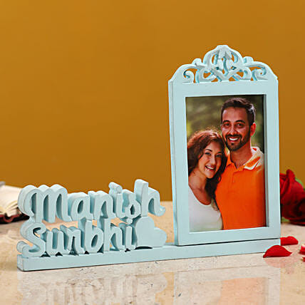 Personalised Couple Photo Frame With Names