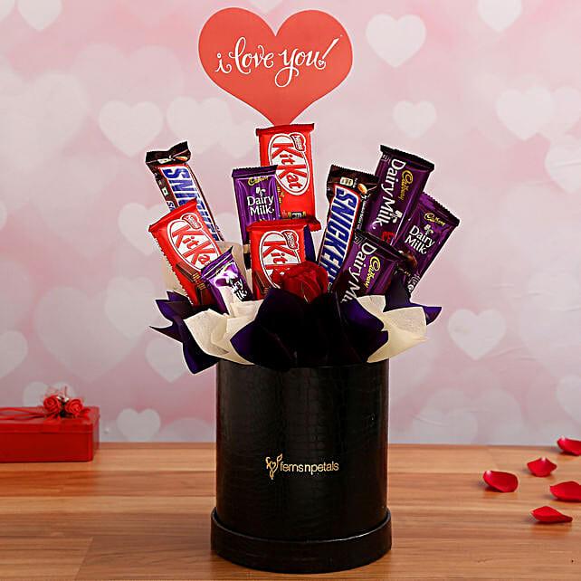 Romantic Chocolate Arrangement for Wife