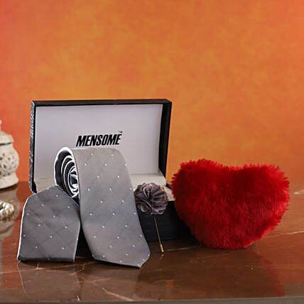Online Tie Gift Set with Heart for Him