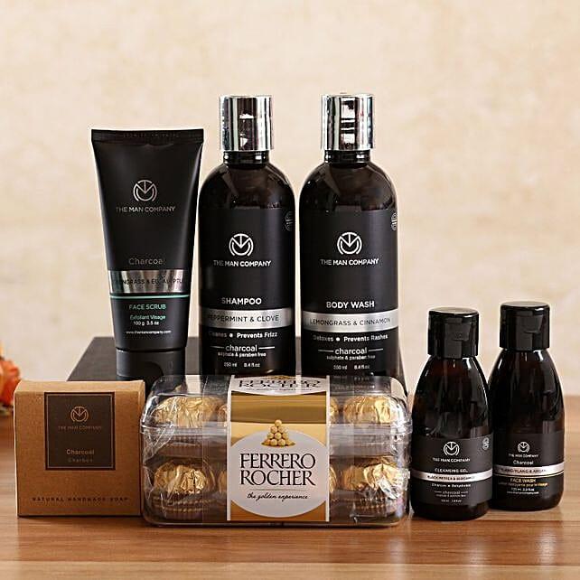 The Man Company Charcoal Kit Ferrero Rocher Box:Shop By Brands