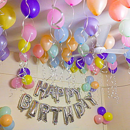 Pastel Balloon Surprise:Balloon Decoration Ideas