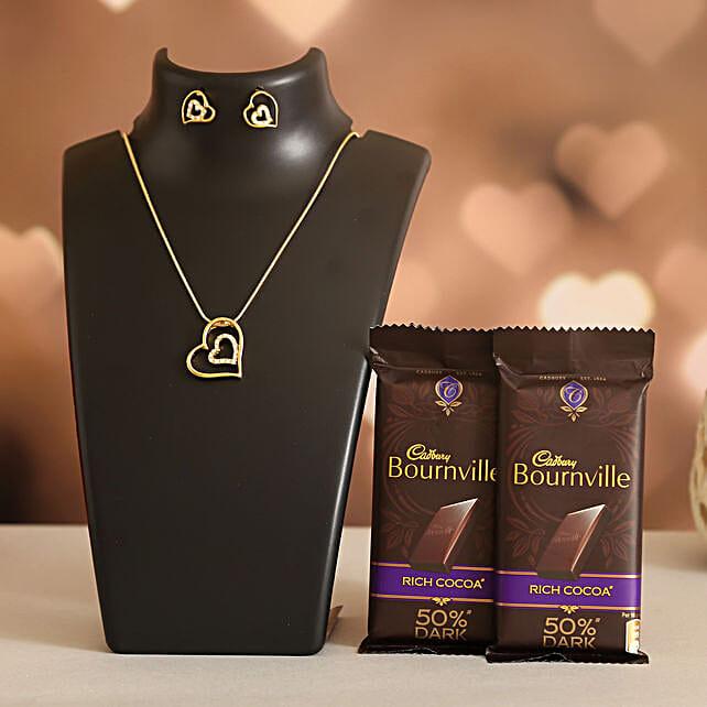 Forever Heart Necklace Set Cadbury Bournville:Ilina Gift Sets