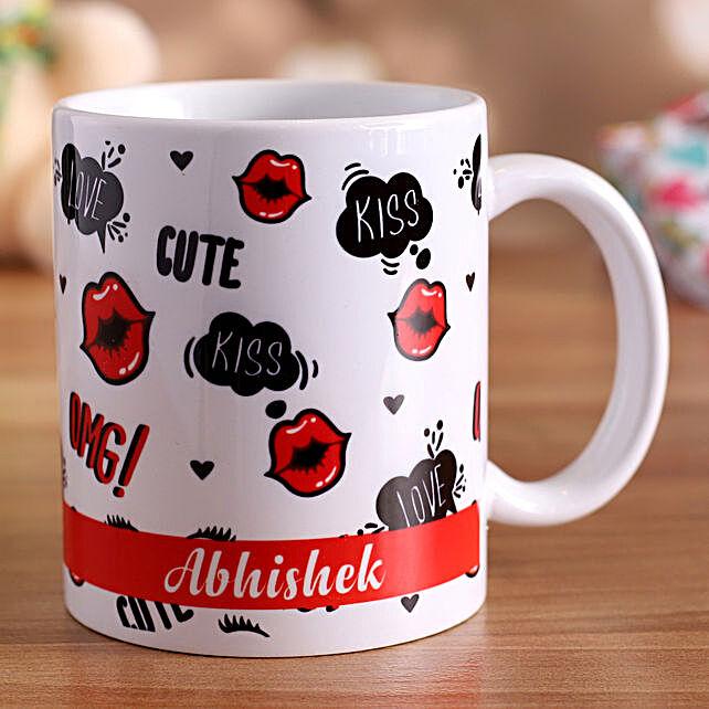 personalised coffee mug for vday:Send Hug Day Personalised Gifts