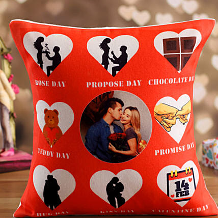 personalised cushion for valentine:Send Hug Day Personalised Gifts