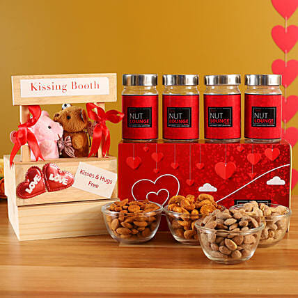 Online  Chocolate Jars With Teddy Bear:Promise Day Soft Toys