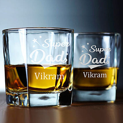 personalised whiskey glass for dad