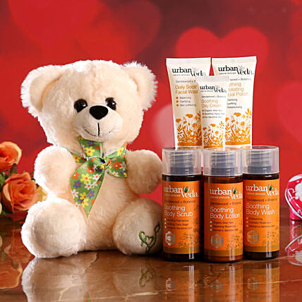 online soothing face kit n teddy combo