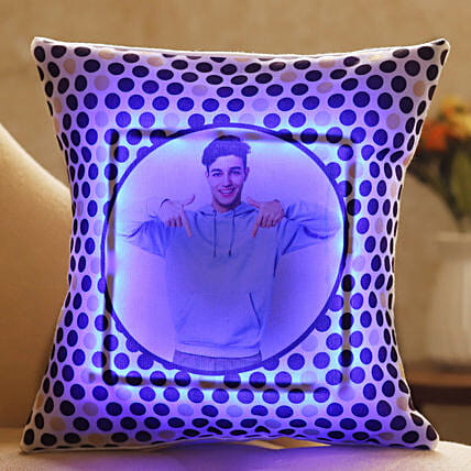 personalised led cushion for lover