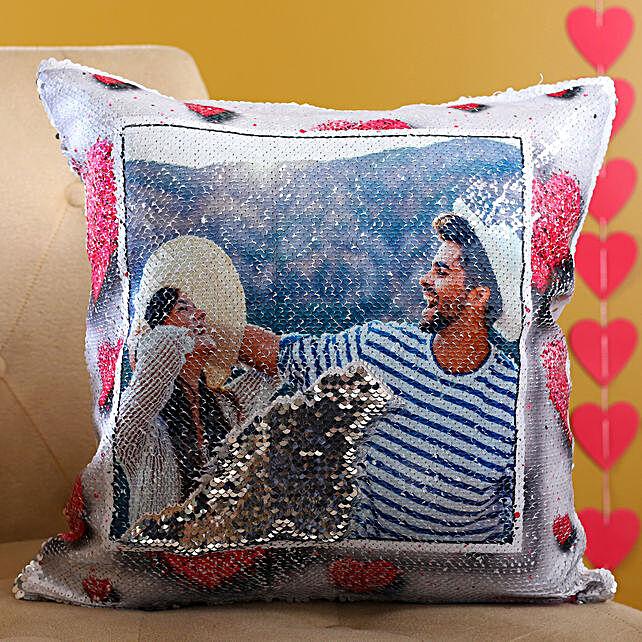 Customised Sparkle Love Cushion