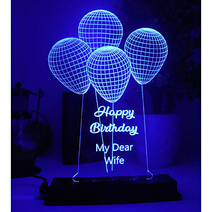 Personalised Flying Balloons LED Lamp